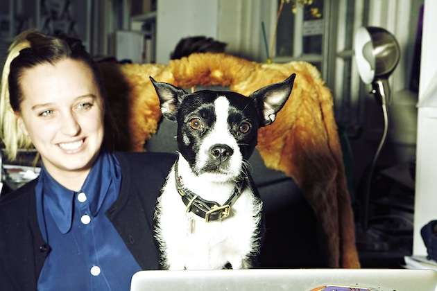 Jessica Fletcher from House of Holland with her dog Coco