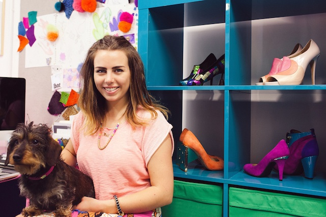 Footwear & Accessories Designer Cleo B and her Wire haired Dachshund Honey B