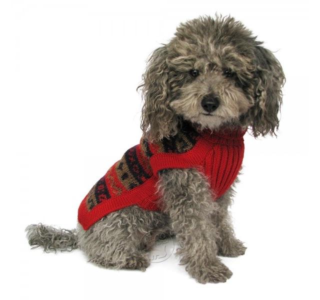 Red Splendour Dog Sweater by Alqo Wasi