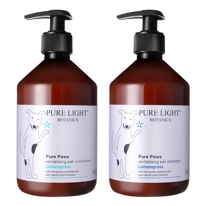 Natural organic dog shampoo and conditioner by Pure Light Botanics