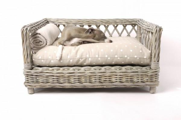 raised rattan dog bed by charley chau