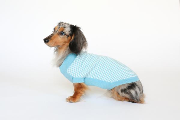 Tulla Check Dog Sweater Ruby Rufus