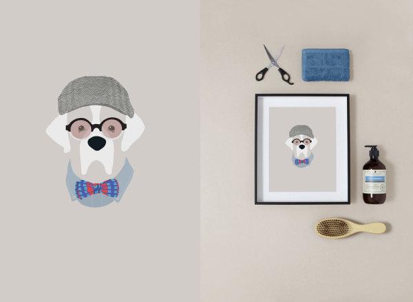 Woof Models Custom Dog Portraits and illustrations