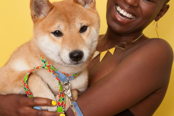 hiro and wolf dog collar and lead