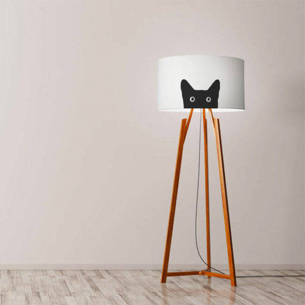cat lamp etsy